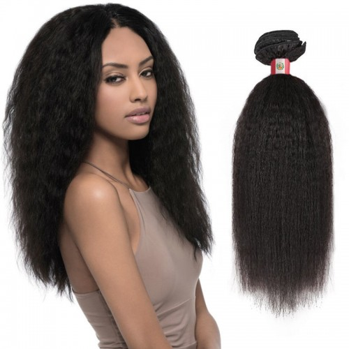 18 Inches Straight Natural Black Virgin Peruvian Hair