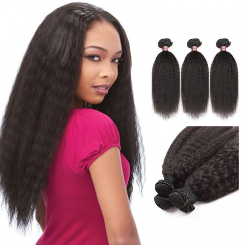 26 Inches Straight Natural Black Virgin Peruvian Hair