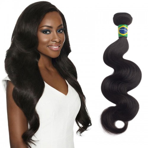 20 Inches Body Wave Natural Black Virgin Brazilian Hair