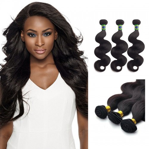 12 Inches Kinky Straight Natural Black Virgin Brazilian Hair
