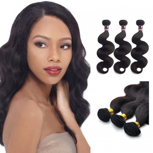 22 Inches Kinky Straight Natural Black Virgin Brazilian Hair