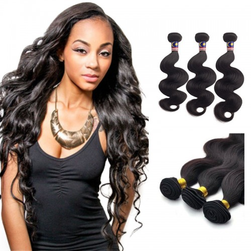 16/18/20 Inches Body Wave Natural Black Virgin Brazilian Hair