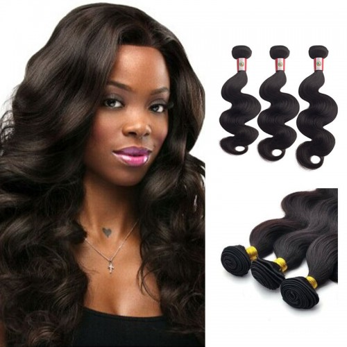 20 Inches*3 Body Wave Natural Black Virgin Brazilian Hair