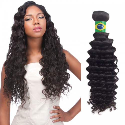 18 Inches*3 Kinky Straight Natural Black Virgin Brazilian Hair