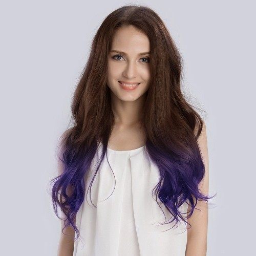 "20"" Ombre(#4/Violet) 7pcs Remy Clip In Hair Extensions-KINGHAIR"