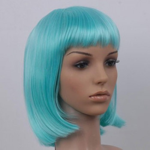 Short Brown Highlight Hair Wig