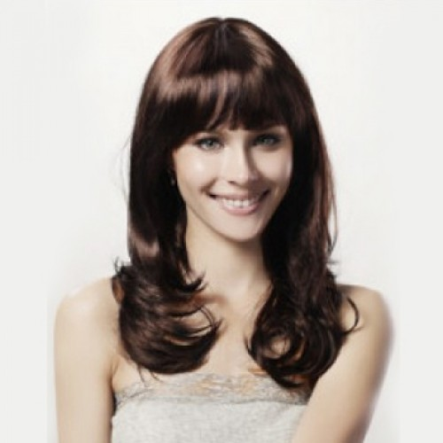Synthetic Hair Wig Wavy White