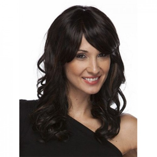 Synthetic Hair Wig Wavy Jet Black