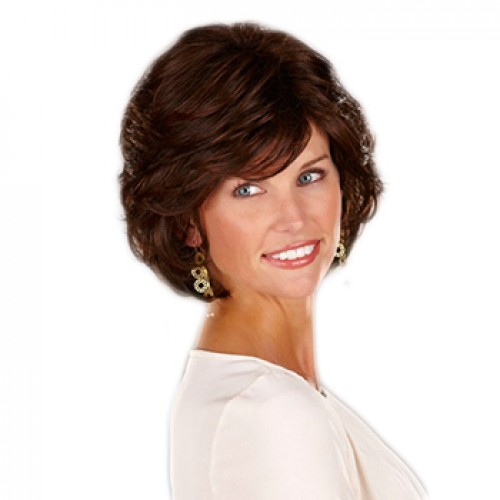 Synthetic Hair Wig Straight Natural Black