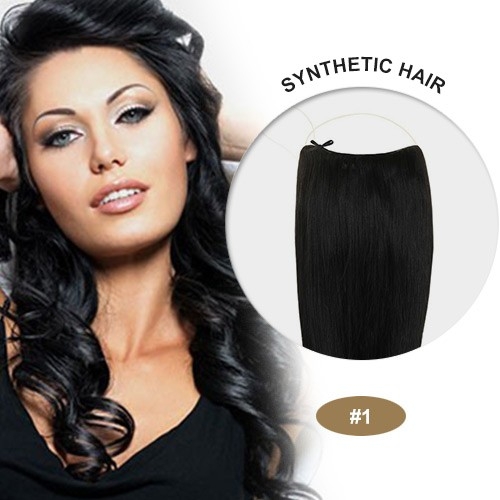 "COCO Synthetic Secret Hair 16"" Jet Black(#1)"