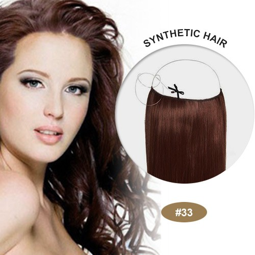 "COCO Synthetic Secret Hair 16"" Dark Auburn(#33)"