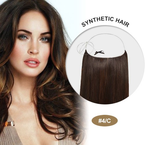 "COCO Synthetic Secret Hair 16"" Brown Highlight(#4/C)"