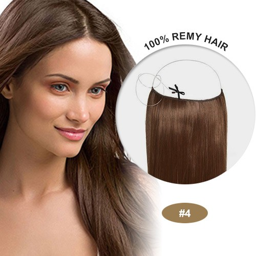 COCO Remy Hair Medium Brown(#4)