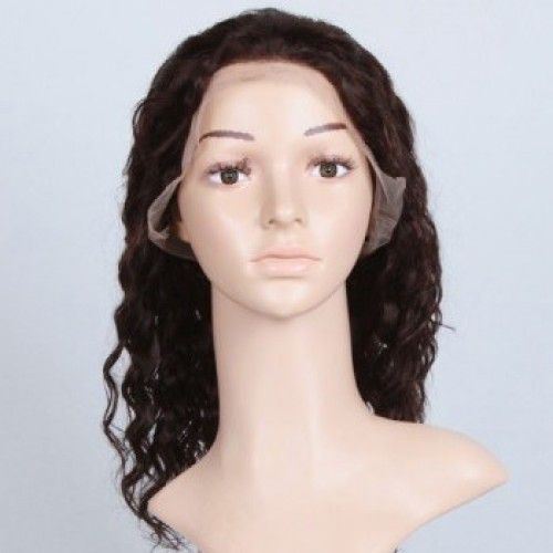 Glueless Human Hair Full Lace Wig Straight Natural Black