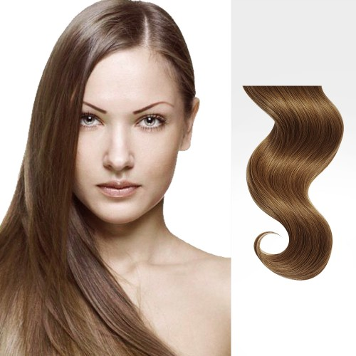 "24"" Golden Brown(#12) 7pcs Clip In Remy Human Hair Extensions"