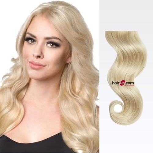 "26"" Ash Blonde(#24) 7pcs Clip In Human Hair Extensions"