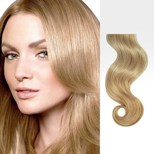 "14"" Strawberry Blonde(#27) 7pcs Clip In Remy Human Hair Extensions"