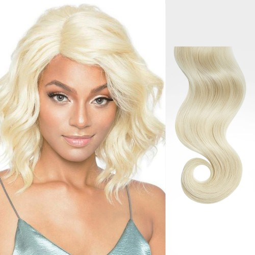 "18"" White Blonde(#60) 7pcs Clip In Remy Human Hair Extensions"
