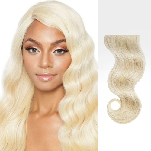 "16"" Bleach Blonde(#613) 7pcs Clip In Human Hair Extensions"