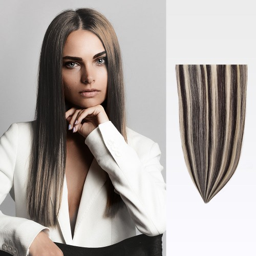 "26"" #1b/613 7pcs Clip In Remy Human Hair Extensions"