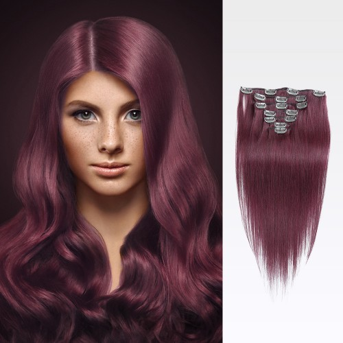 "26"" Bug 7pcs Clip In Human Hair Extensions"