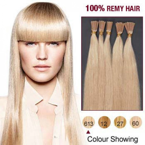 "26"" Bleach Blonde(#613) 100S Stick Tip Remy Human Hair Extensions"