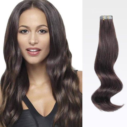 "26"" Dark Brown(#2) 20pcs Tape In Human Hair Extensions"