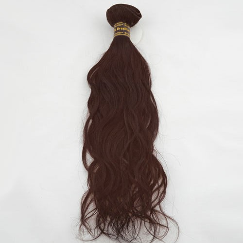 "24"" Dark Auburn(#33) Natural Wave Indian Remy Hair Wefts"