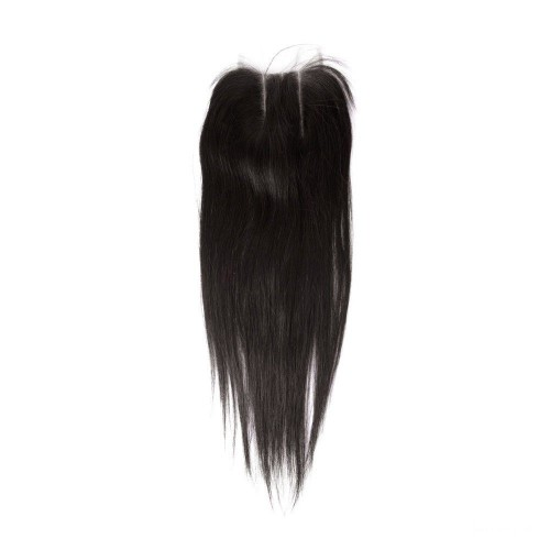 18 Inches Straight Natural Black Free Parted Indian Remy Lace Closure