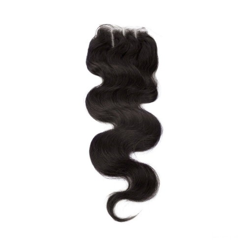12 Inches Body Wave Natural Black Free Parted Indian Remy Lace Closure
