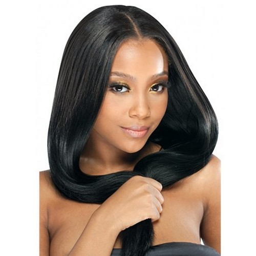 "18"" Jet Black(#1) 7pcs Remy Clip In Hair Extensions-KINGHAIR"