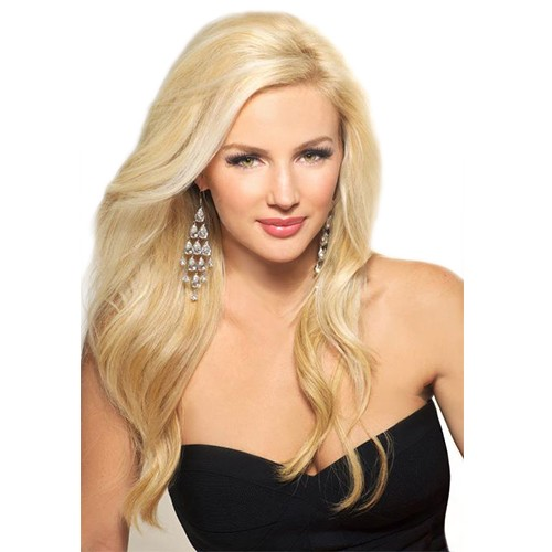"18"" Bleach Blonde(#613) 7pcs Remy Clip In Hair Extensions-KINGHAIR"
