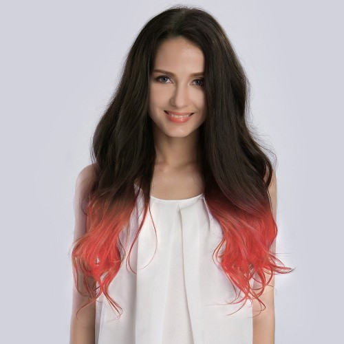 "20"" Ombre(#1B/Pastel) Pink 7pcs Remy Clip In Hair Extensions-KINGHAIR"