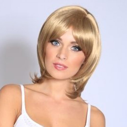 Human Hair Lace Front Wig Straight Golden Blonde