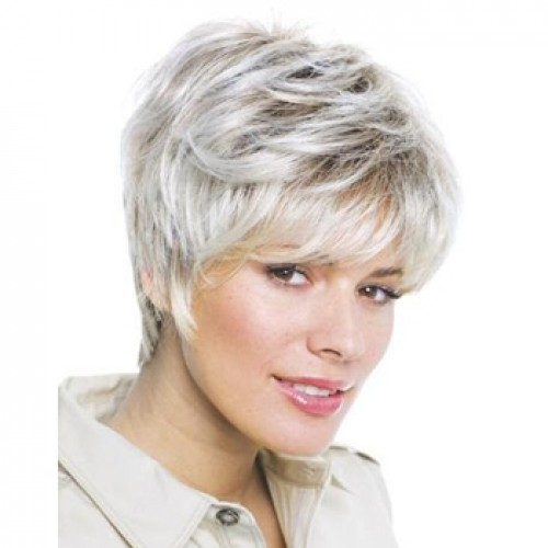 Human Hair Lace Front Wig Straight White