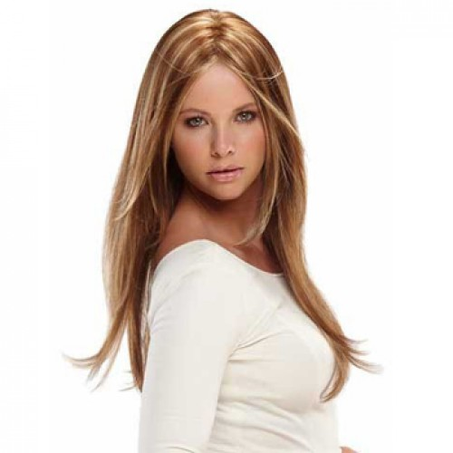 Human Hair Lace Front Wig Straight Blonde Highlight