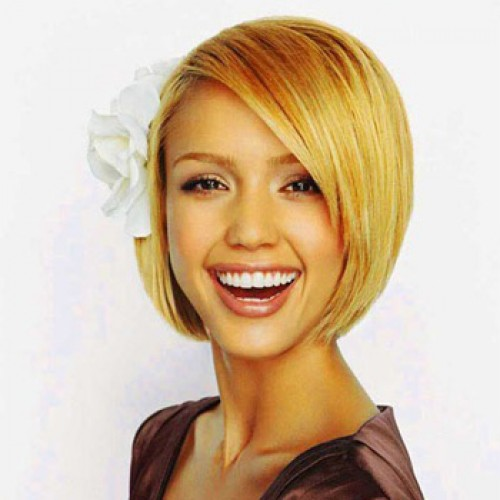 Celebrity Human Hair Full Lace Wig Straight Golden Blonde
