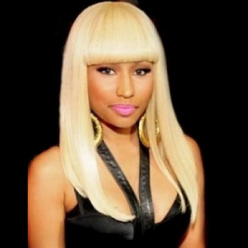Celebrity Human Hair Full Lace Wig Straight Bleach Blonde