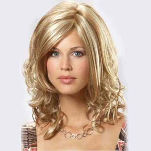 Human Hair Full Lace Wig Wavy Blonde Highlight #18/613