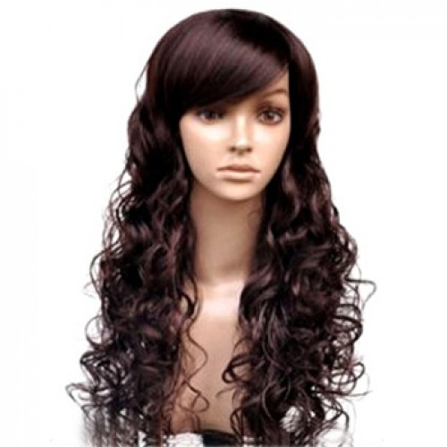 Human Hair Lace Front Wig Wavy 99J