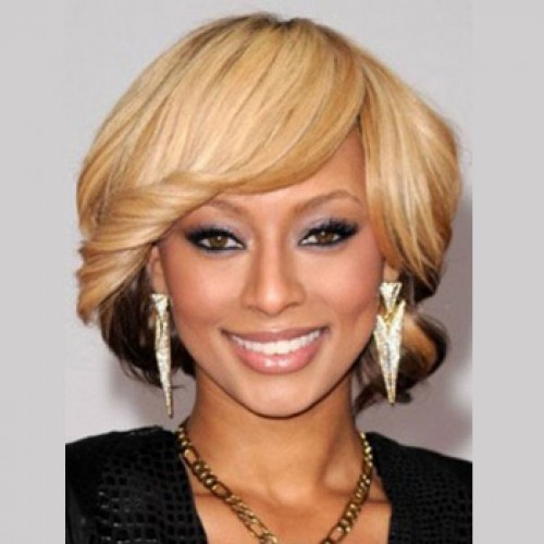 Celebrity Human Hair Full Lace Wig Wavy Blonde Highlight