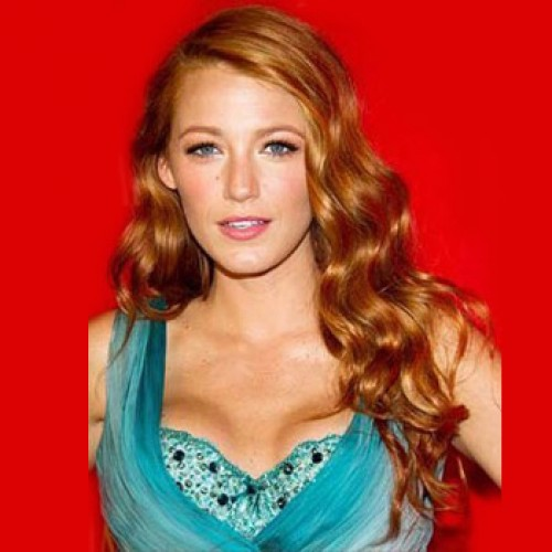 Celebrity Human Hair Full Lace Wig Wavy Golden Blonde