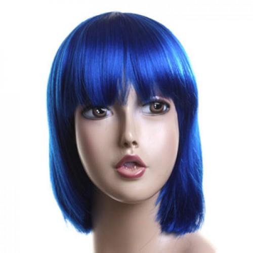 Costume Wig For Party Dark Blue