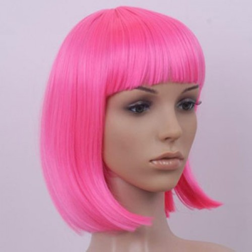 Costume Wig For Party Pink