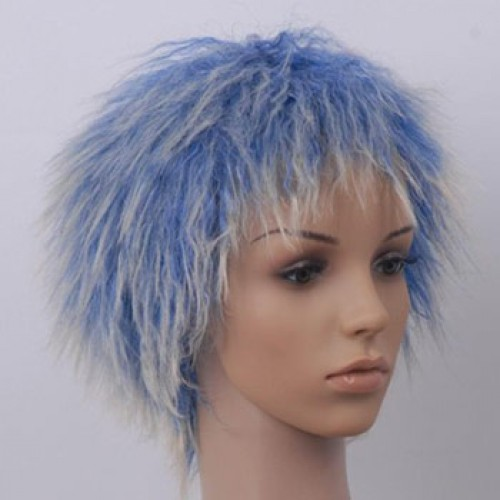 Costume Wig For Party Blue Highlight
