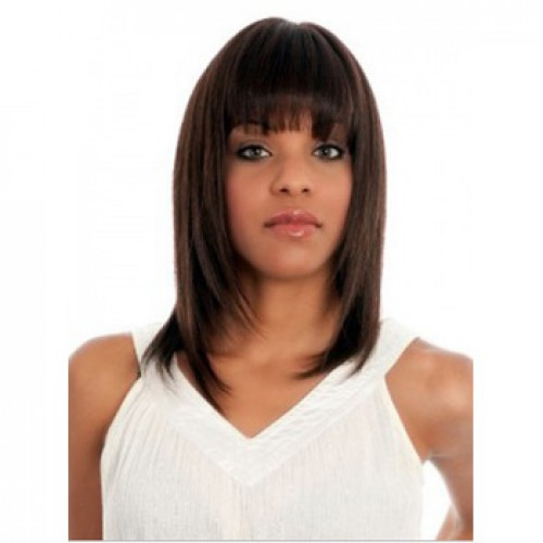 African American Hair Wig Straight Natural Black