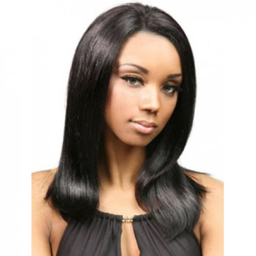 African American Hair Wig Straight Jet Black