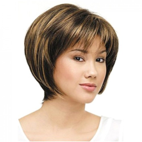 African American Hair Wig Straight Ash Brown