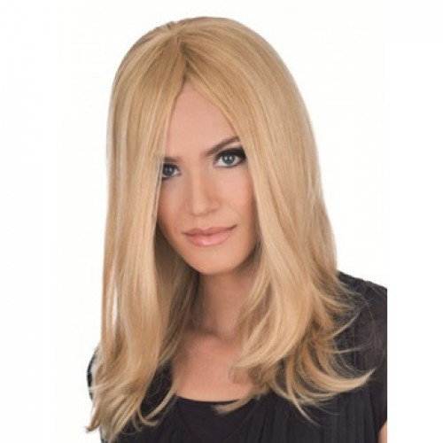 African American Hair Wig Straight Ash Blonde