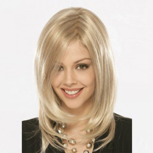 African American Hair Wig Straight Bleach Blonde